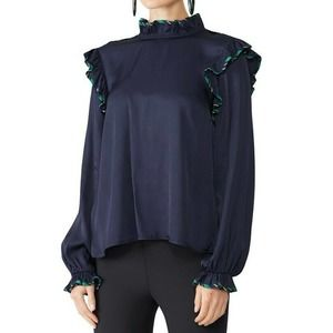 Opening Ceremony Persian Twill Blouse 10 Ruffle